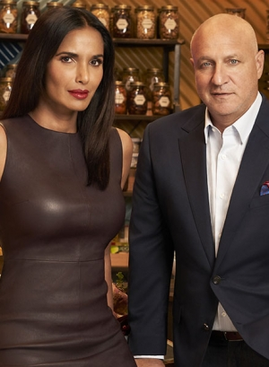 Padma Lakshmi and Tom Colicchio