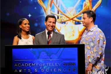 Kerry Washington, Bruce Rosenblum and Jimmy Kimmel announce the 64th Primetime Emmy Awards Nominations