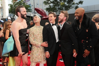 The Queer Eye cast on the red carpet at the 2019 Creative Arts Emmys.