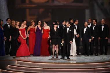 Cast and crew of The Marvelous Mrs. Maisel