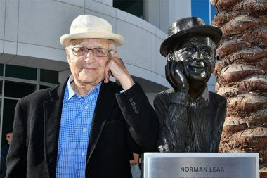 Norman Lear and friend at The Power of TV: A Conversation with Norman Lear and One Day at a Time, presented by the Television Academy Foundation and Netflix in celebration of the Foundation's 20th Anniversary of THE INTERVIEWS: An Oral History Project, on