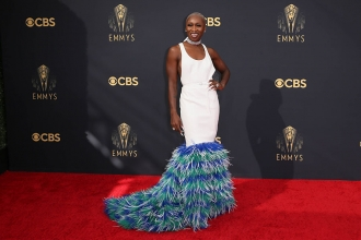 Cynthia Erivo arrives at the 73rd Emmy Awards, September 19, 2021 in Los Angeles, California.