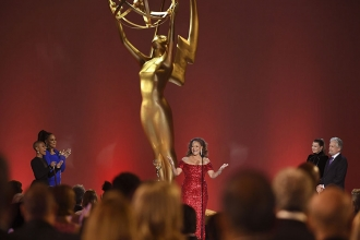 Debbie Allen accepts the governors award at the 73rd Emmy Awards, September 19, 2021 in Los Angeles, California.