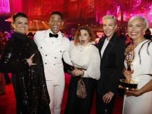 Leslie Highland, Charlie Barnett, Natasha Lyonne, Rebecca Henderson and Jenn Rogien at the 2019 Creative Arts Ball.