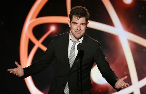 Max Greenfield presents at the 35th College Television Awards