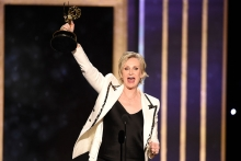 Jane Lynch accepts an award at the 2019 Creative Arts Emmy Awards.