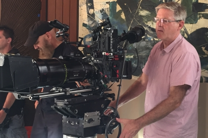 John Inwood on set