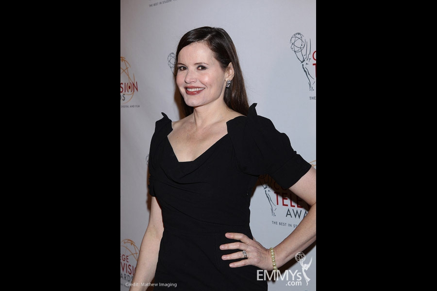 Geena Davis at the 32nd College Television Awards