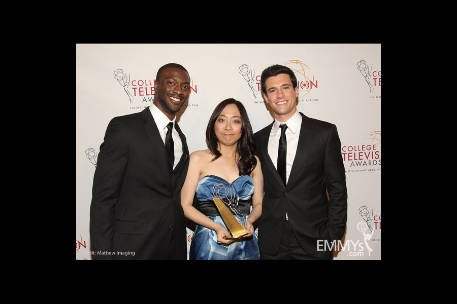 Aldis Hodge, Ting Chian Tey & Drew Roy at the 32nd College Television Awards
