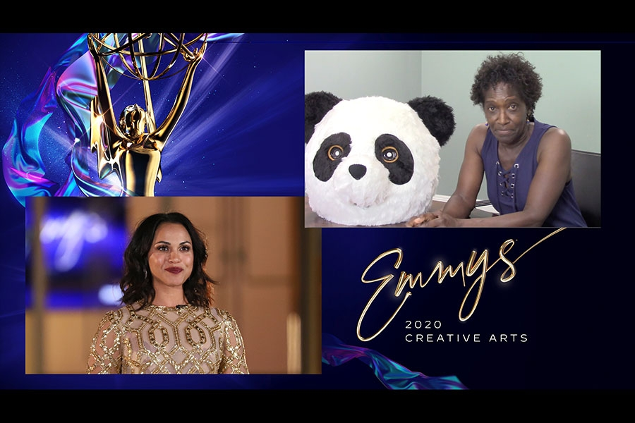 Monica Raymund presents the Emmy for Outstanding Casting For A Limited Series, Movie Or Special to Victoria Thomas for Watchmen on Night Five of the Creative Arts Emmys.