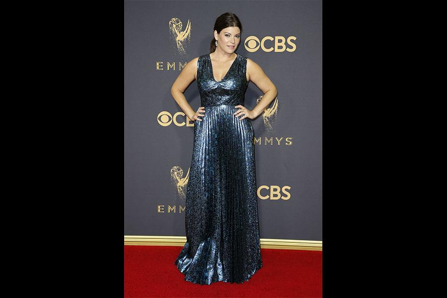 Gail Simmons on the red carpet at the 2017 Primetime Emmys.