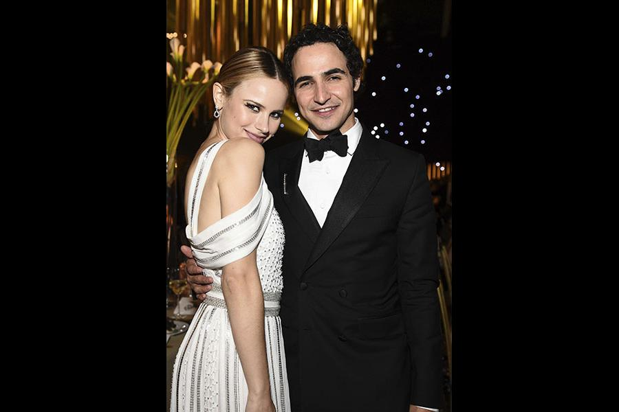 Halston Sage and Zac Posen at the 69th Emmys Governors Ball.