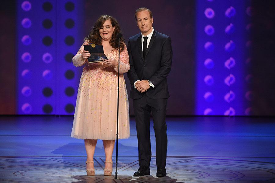 Aidy Bryant and Bob Odenkirk
