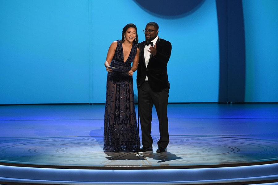 Gina Rodriguez and Lil Rel Howery