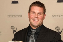 Rod Roddenberry with the Hall of Fame Award he accepted for his father, the late Gene Roddenberry.
