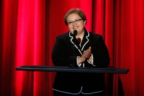 Academy foundation board member Norma Provencio Pichardo speaks onstage at the 35th College Television Awards