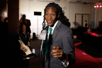 Khadif Sanders at the Thank You Cam at the 35th College Television Awards
