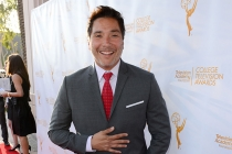 Benito Martinez poses on the red carpet at the 35th College Television Awards