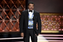 Neil deGrasse Tyson on stage at the 2017 Creative Arts Emmys.