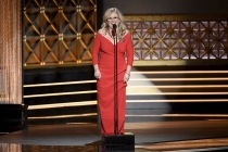 Nancy Cartwright on stage at the 2017 Creative Arts Emmys.