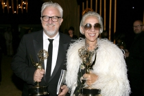 Martin Childs and Michele Clapton at the 2017 Creative Arts Emmys.