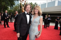 William H. Macy and Felicity Huffman on the red carpet at the 2017 Primetime Emmys.