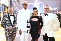 Ross Mathews, RuPaul Charles, Michelle Visage and Carson Kressley