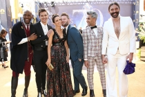 The Queer Eye cast and Tina Fey