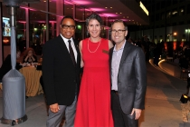 Television Academy chairman and CEO Hayma Washington, CFO Heather Cochran, and president and COO Maury McIntyre at the 38th College Television Awards presented by the Television Academy Foundation at the Saban Media Center on Wednesday, May 24, 2017, in t