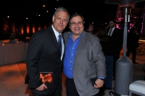 Television Academy Foundation board member Kevin Hamburger with Television Academy governer Bob Boden at the 38th College Television Awards presented by the Television Academy Foundation at the Saban Media Center on Wednesday, May 24, 2017, in the NoHo Ar
