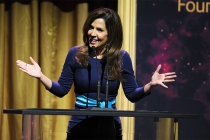 Maria Canals-Berrera presents an award at the 36th College Television Awards at the Skirball Cultural Center in Los Angeles, California, April 23, 2015.
